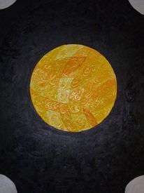 Gelber planet, Malerei, Planet