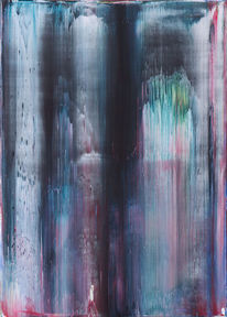 Gerhard richter, Abstrakt, Acrylmalerei, Rakeltechnik