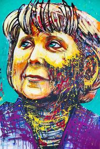 Heiter, Merkel, Portrait, Träumerin