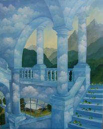 Etage, Treppe, Malerei