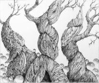 Zeichnungen, Tuschezeichnungen, Schwestern