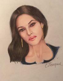 Portrait, Yang, Liebe, Malerei