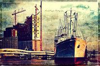 Hamburg, Elbphilharmonie, Color fine art, Filtertechniken