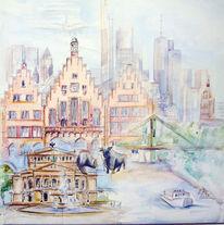 Frankfurt, Stadt, Metropole, Malerei
