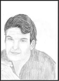 Portrait, Bleistiftzeichnung, Zeichnungen,
