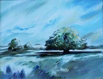 Brandenburg, Baum, Aquarell,