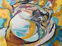 Synesthesie, Acrylmalerei, Blumen, Malerei