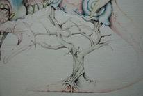 Baum, Zunge, Äste, Zeichnungen