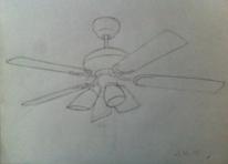 Lampe, Ventilator, Kontur, Zeichnungen
