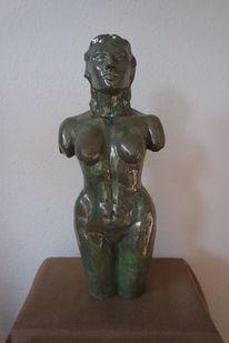 Akt, Frau, Keramik, Skulptur