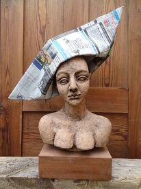 Statue, Frau, Skulptur, Keramik