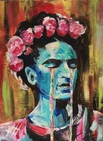 Weinen, Frida kahlo, Artnight, Malerei