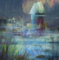 Moor, Dinkelsbühl, Fluss, Digitale kunst