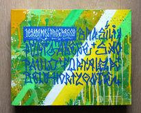 Schriftzug, Acrylmalerei, Brasilien, Graffiti