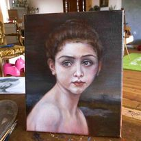 Alla, Portrait, Ölmalerei, Prima