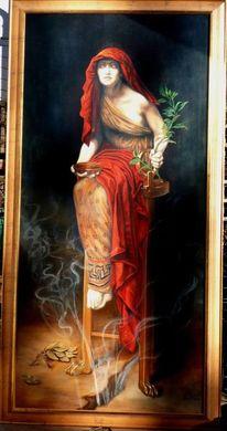 Malen, Mythologie, Acrylmalerei, Delphi