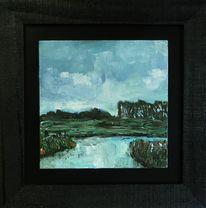 Ölmalerei, Tief, Nordsee, Landschaftsmalerei