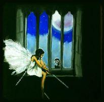 Engel, Eingesperrt, Mond, Aleine