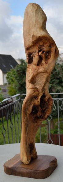Skulptur, Holz, Schnitzkunst, Abstrakt