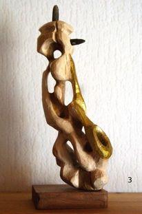 Skulptur abstrakt, Saxofon, Kunsthandwerk