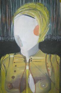 Portrait, Gemälde, Surreal, Pastellmalerei