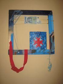 Modern, Portrait, Nikola tesla, Blau