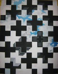 Abstrakt, Surreal, Pastellmalerei, Malerei