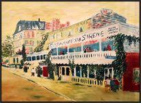 Van gogh, Ölmalerei, Restaurant la sirène, At asnières