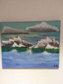 Stürmige see, Wasser, Landschaft, Berge
