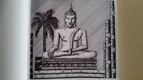 Zeichnung, Kultur, Buddha, Asien