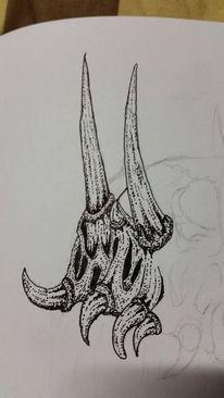 Zeichnung, Detailreich, Krone, Metall