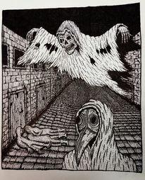 Zeichnung, Tod, Schädling, Pestdoktor