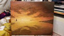 Sonnenuntergang, Welle, Landschaft, Meer