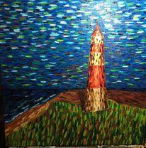 Meer, Ölmalerei, Landschaft, Leinen