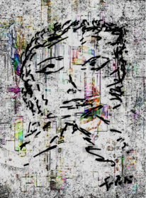 Abstrakt, Portrait, Digital, Digitale kunst