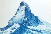 Landschaft, Berge, Ölmalerei, Malerei
