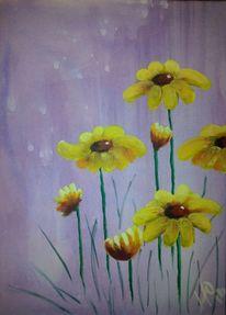 Blumen, Malerei, Acrylmalerei, Pflanzen