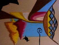 Zeichnung, Pastellmalerei, Surreal, Zeichnungen