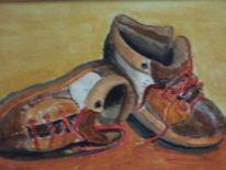 Schuhe, Malerei, Acrylmalerei