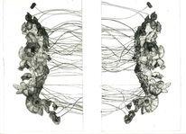 Abstrakt, Schwarz, Landschaft, Druckgrafik
