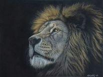 Pastellmalerei, Zeichnungen, Wildtiere, König