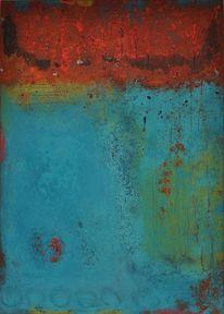 Abstrakt, Malerei, Mischtechnik, Acrylmalerei