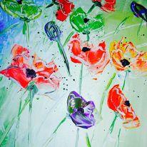 Blumen, Acrylmalerei, Frühling, Malerei
