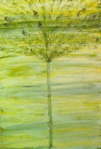 Malerei, Grün, Baum