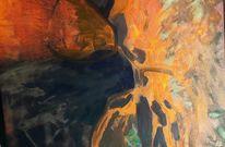 Abgrund, Stein, Orange, Klippe