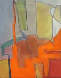 Orange, Neon, Abstrakt, Malerei