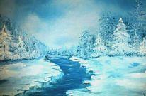 Kälte, Winterwonderland, Kalt, Blau