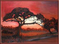 Acrylmalerei, Malerei, Afrika,