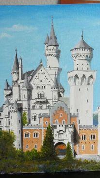 Landschaft, Malerei, Schloss