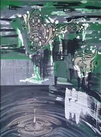 Zeichnung, Abstrakt, Acrylmalerei, Wasser